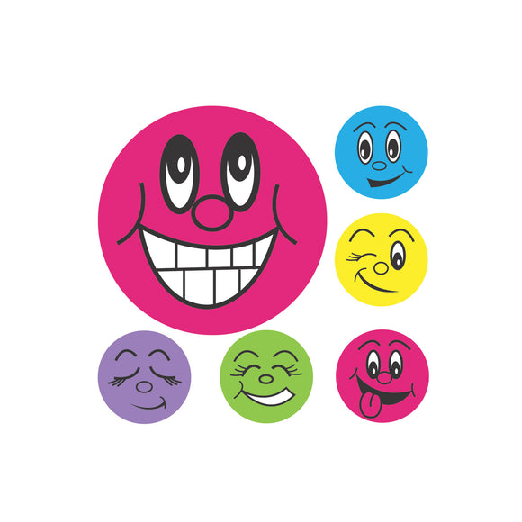 Avery Merit Stickers Mini Smiley Faces 13 mm diameter Multi-coloured 800 Pack (69618)