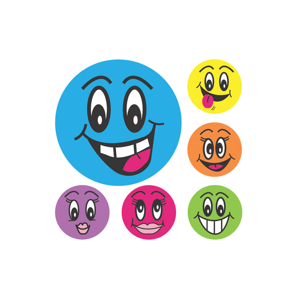Avery Merit Stickers Smiley Faces 43 mm diameter Multi-coloured 102 Pack (69619)