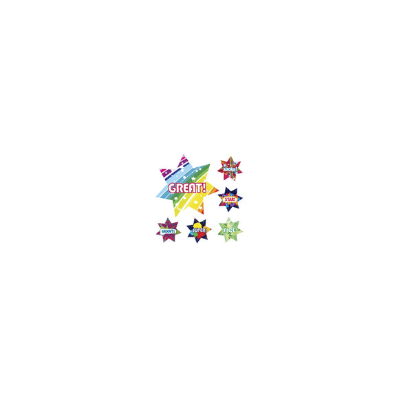 Avery Merit Stickers Dazzling Stars 30 mm Multi-coloured 102 Pack (69639)