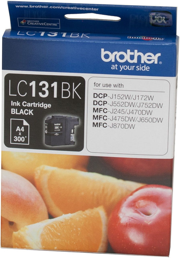 Brother LC Ink Cartridge, Black, up to 300 pages (LC-131BK)