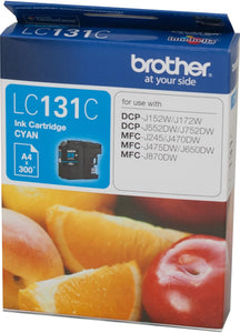 Brother LC Ink Cartridge, Cyan, up to 300 pages (LC-131C)