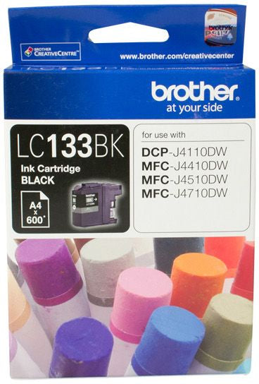 Brother LC Ink Cartridge, Black, up to 600 pages (LC-133BK)