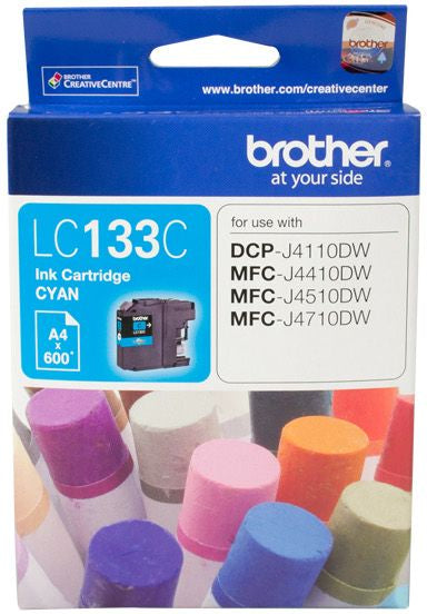Brother LC Ink Cartridge, Cyan, up to 600 pages (LC-133C)