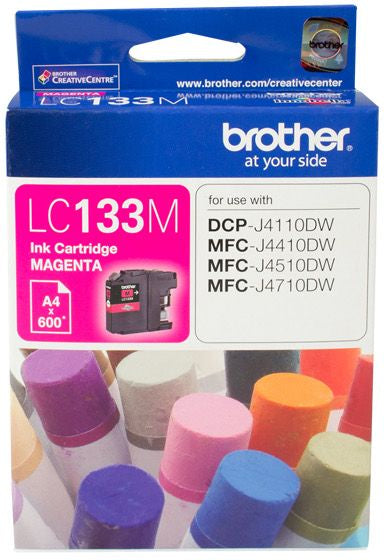 Brother LC Ink Cartridge, Magenta, up to 600 pages (LC-133M)