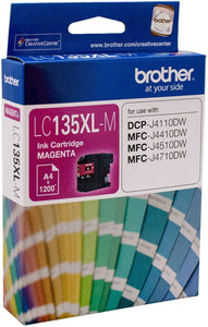 Brother LC XL Ink Cartridge, Magenta, up to 1200 pages (LC-135XLM)