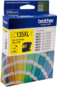 Brother Inkjet Cartridge LC135 XLY Yellow
