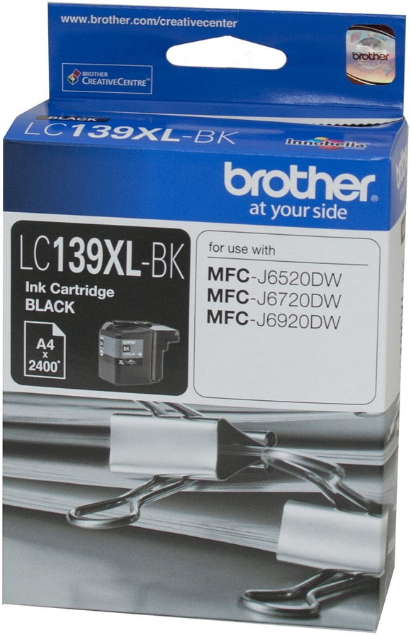 Brother LC XL Ink Cartridge, Black, up to 2400 pages (LC-139XLBK)