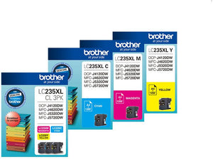 Brother LC XL Ink Cartridge, 3-Colour Pack, Up to 1,200 pages each (LC-235XLCL3PKS)