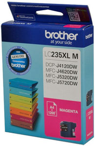 Brother LC XL Ink Cartridge, Magenta, Up to 1,200 pages (LC-235XLMS)