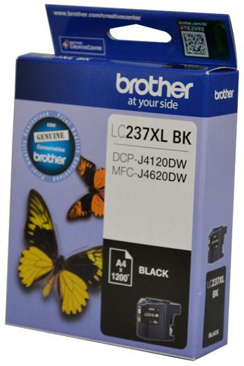 Brother LC XL Ink Cartridge, Black, Up to 1,200 pages (LC-237XLBKS)