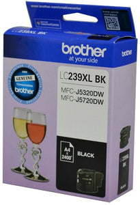 Brother LC XL Ink Cartridge, Black, Up to 2,400 pages (LC-239XLBKS)