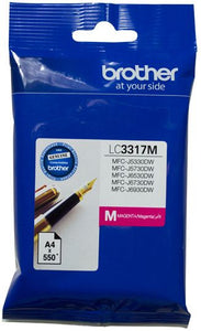 Brother LC Ink Cartridge, Magenta, up to 550 pages (LC-3317M)