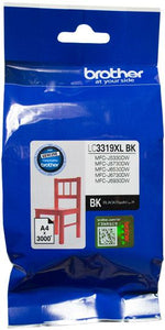 Brother LC Ink Cartridge, Extra-Large Black, up to 3000 pages (LC-3319XLBK)