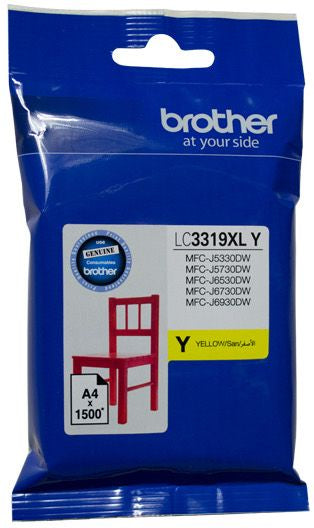 Brother LC Ink Cartridge, Extra-Large Yellow, up to 1500 pages (LC-3319XLY)