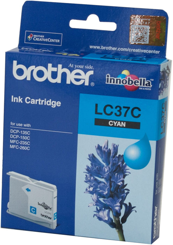 Brother LC Ink Cartridge, Cyan, 300 pages (LC-37C)