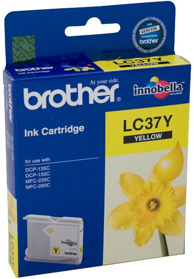 Brother LC Ink Cartridge, Yellow, 300 pages (LC-37Y)