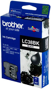 Brother LC Ink Cartridge, Black, 300 pages (LC-38BK)