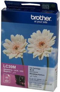 Brother LC Ink Cartridge, Magenta, 260 pages (LC-39M)