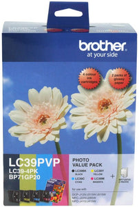 Brother LC Ink Cartridge, Photo Value Pack (LC-39PVP)