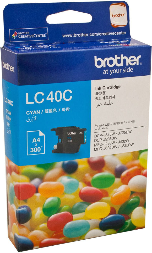 Brother LC Ink Cartridge, Cyan, up to 300 pages (LC-40C)