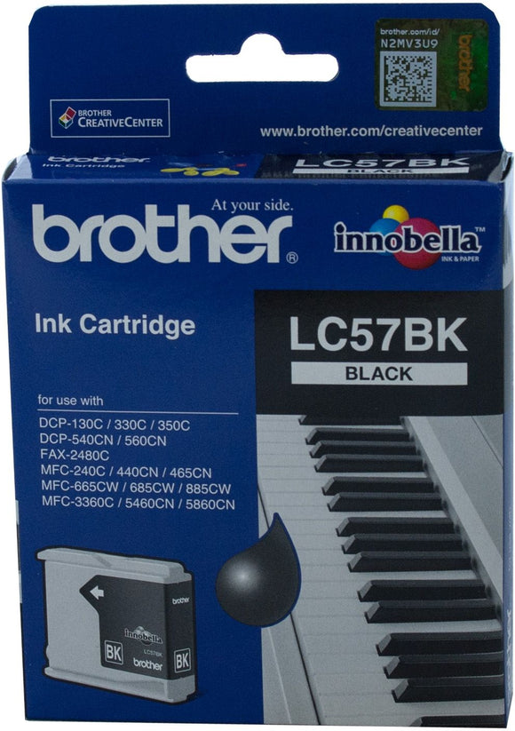 Brother LC Ink Cartridge, Black, 500 pages (LC-57BK)