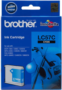 Brother LC Ink Cartridge, Cyan, 400 pages (LC-57C)