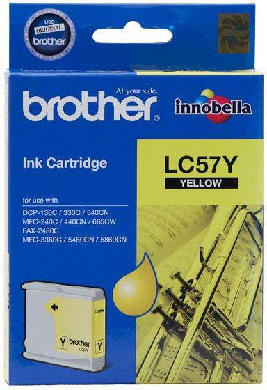 Brother LC Ink Cartridge, Yellow, 400 pages (LC-57Y)