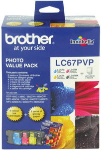 Brother LC Ink Cartridge, Photo Value Pack (LC-67PVP)
