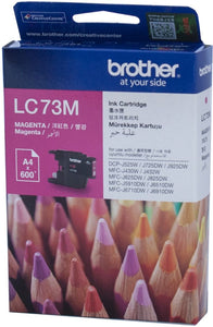 Brother LC Ink Cartridge, Magenta, Up to 600 pages (LC-73M)