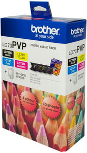 Brother LC Ink Cartridge, Photo Value Pack (LC-73PVP)