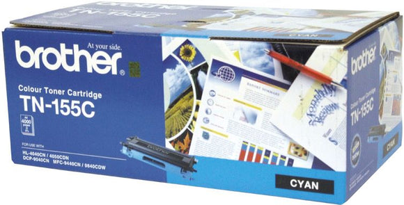 Brother TN Toner Cartridge, Cyan, 4,000 pages (TN-155C)
