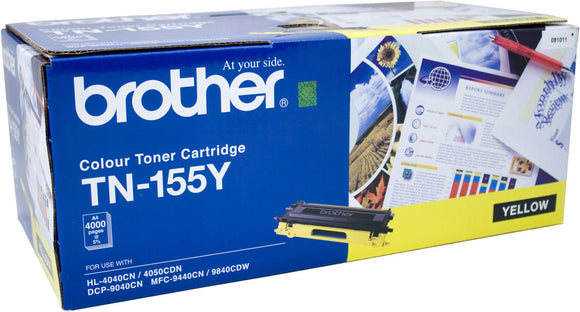 Brother TN Toner Cartridge, Yellow, 4,000 pages (TN-155Y)