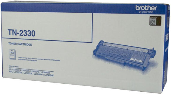 Brother TN Toner Cartridge, Black, 1,200 pages (TN-2330)