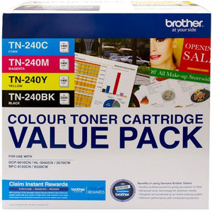 Brother TN Toner Cartridge, Misc Consumables, refer to singles (TN-240CL4PK)