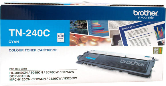 Brother TN Toner Cartridge, Cyan, 1,400 pages (TN-240C)
