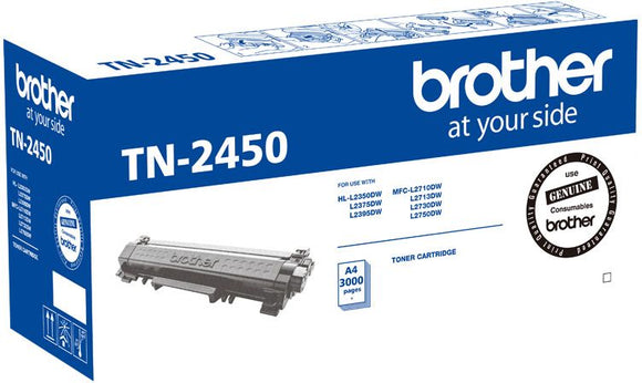 Brother TN Toner Cartridge, Black, 3,000 pages (TN-2450)