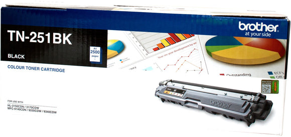 Brother Toner TN251 Black 2500 Pages