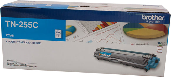 Brother TN Toner Cartridge, Cyan, 2,200 pages (TN-255C)
