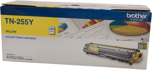 Brother TN Toner Cartridge, Yellow, 2,200 pages (TN-255Y)