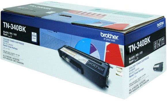 Brother TN Toner Cartridge, Black, 2,500 pages (TN-340BK)