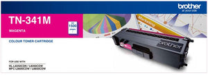 Brother TN Toner Cartridge, Magenta, 1,500 pages (TN-341M)