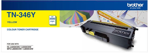 Brother TN Toner Cartridge, Yellow, 3,500 pages (TN-346Y)
