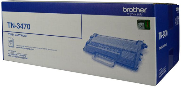 Brother TN Toner Cartridge, Black, 12,000 pages (TN-3470)