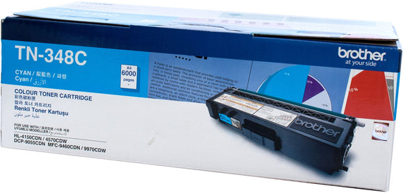 Brother TN Toner Cartridge, Cyan, 6,000 pages (TN-348C)
