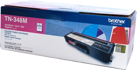 Brother TN Toner Cartridge, Magenta, 6,000 pages (TN-348M)