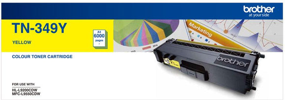 Brother TN Toner Cartridge, Yellow, 6,000 pages (TN-349Y)