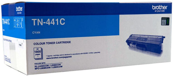 Brother TN Toner Cartridge, Cyan, 1,800 pages (TN-441C)