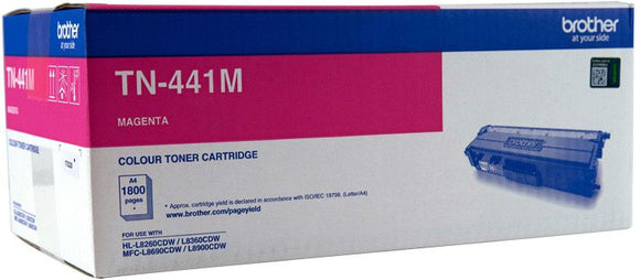 Brother TN Toner Cartridge, Magenta, 1,800 pages (TN-441M)