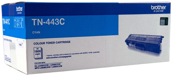Brother TN Toner Cartridge, Cyan, 4,000 pages (TN-443C)
