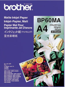 Brother BP Paper, Matte, 25 Sheets (BP-60MA)